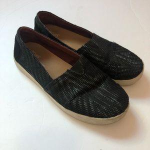 TOMS | Womens Black Slip On Shoe Size 7
